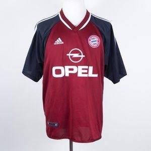 adidas 2001-2002 Bayern Munich Soccer Jersey Large